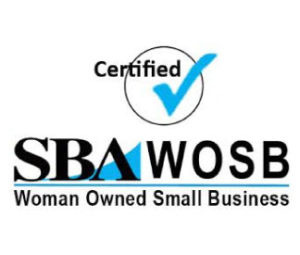 SBA WOSB Women Owned Small Business Logo | Vertical
